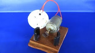 free energy generator light bulbs using magnets - Science fair projects experiments at home