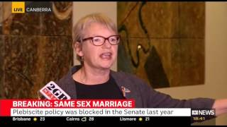 Janet Rice on Liberal party room meeting Plebiscite
