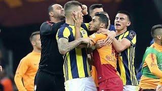 شاهد شجار بين لاعبي فريق غلطة سراي و فنربخشة في الدوري التركي 😡😡😡