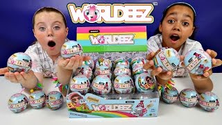 NEW WORLDEEZ Surprise Globes! Mystery Blind Bags - Key Charm Bracelet - Kids Toy Review