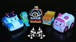 Robocar Poli Toy Cars Collection - Grand Prix Racing Song Demo! (Робокар Поли, 로보카 폴리)