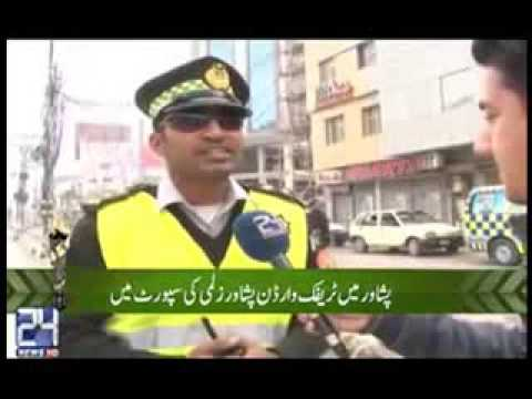 #PSL Peshawar Traffic warden support #Peshawar Zalmi in PSL