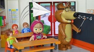 Bajka Masza i Niedźwiedź po polsku - Masza z Niedźwiedziem idą do szkoły