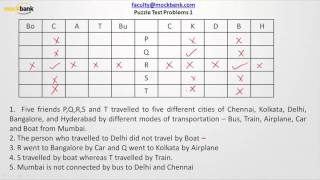 Logical reasoning - Puzzle test 2