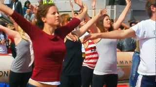 Mercedes yoga session - Canada Day 2012 in London Trafalgar Square on Sunday 1 July 2012