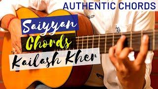 Saiyyan (Kailash Kher) Guitar Lesson - Detailed Original Chords - Part II
