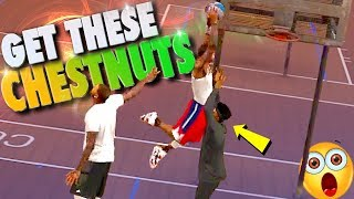 Kid Almost Gets SPANKED / COME Get These CHESTNUTS - NBA 2K17 MyPark 3v3