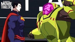 "THE DEATH OF SUPERMAN Clip ""Superman vs. Mannheim"" NEW (2018) - DC Animation"
