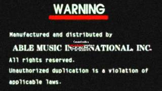 Able Music International, inc. Logo with Video CD Noise Effect