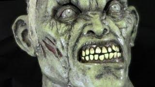 Green Shock Mummy Latex Halloween Horror Mask