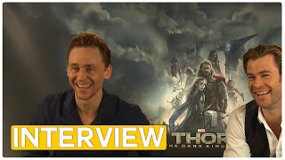 Thor 2 | Chris Hemsworth & Tom Hiddleston EXCLUSIVE Interview (2013)