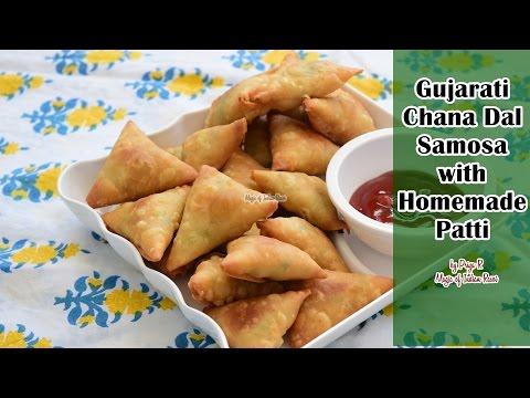 Gujarati Chana Dal Samosa with Homemade Patti   Priya R   Magic of Indian Rasoi