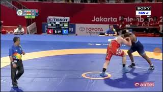 Sumit kadyan lost first round against parvez of iran