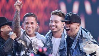 """Nicky Jam feat  de la Ghetto J Balvin Arcangel y Zion """" El Perdón"""" y """" Travesuras"""""""