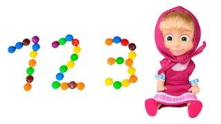 🐻 MASHA Y EL OSO 🐻 Enseña números M&M´s | Aprender Jugando