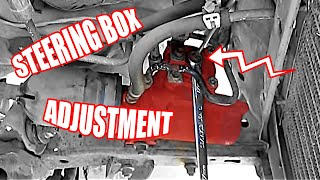 How to perform a Steering Box Adjustment
