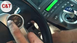 How to reset oil maintenance require TOYOTA Prius 2010,