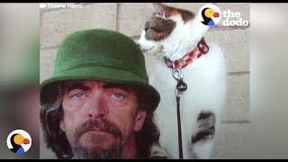 Homeless Man Adopts Cat Then Hitchhikes Back To Owner | The Dodo
