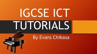 IGCSE ICT 2016 May June paper 32 Data Analysis Excel