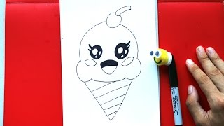 How to Draw Cute Ice Cream Cone Easy Things to Draw