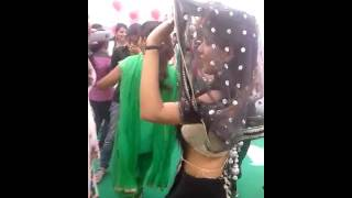 Indian wife dance in marriage