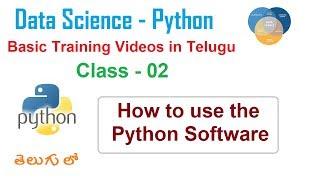 03 Data Science training  Python videos   Vlrtraining Telugu