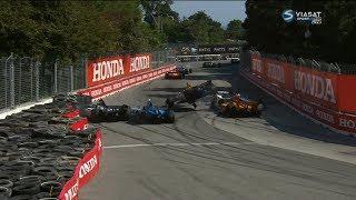 IndyCar Series 2018. Grand Prix of Toronto. Restart Crashes