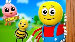 Incy Wincy Spider Sat On The Wall | Kindergarten Nursery Rhymes For Kids | Cartoon Songs by Farmees