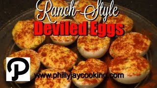 Easy Delicious Deviled Eggs Recipe: How To Make The BEST Deviled Eggs With RANCH Dressing