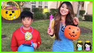 HALLOWEEN TRICK OR TREAT Toy Egg Surprise Kids Candy Outdoor Fun for Kids Super Hero IRL Compilation