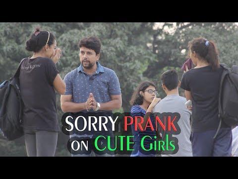 Saying SORRY to HOT Girls   Sorry PRANK   Prank In India   Chetan #The Bakchod