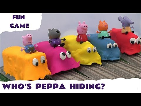 Peppa Pig Play Doh Covered Thomas The Train Toy Trains Thomas and Friends Play Doh Guess Kids