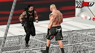 WWE 2K17 - Roman Reigns vs Brock Lesnar Epic Hell In A Cell Match! (PS4/XB1)