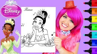 Coloring Tiana Princess and the Frog Disney Coloring Page Prismacolor Markers | KiMMi THE CLOWN