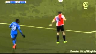 Markus Henriksen Goal - Feyenoord 1 - 1 AZ Alkmaar - 03-03-2016