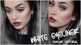 White Eyeliner Makeup Tutorial   Evelina Forsell