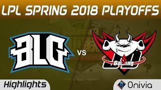 BLG vs JDG Highlights Game 1 LPL Spring 2018 Playoffs Bilibili Gaming vs JD Gaming by Onivia
