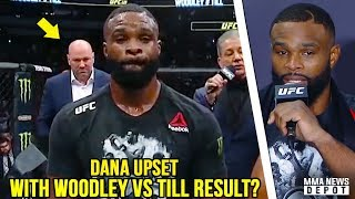 UFC Pros react to Woodley vs Till; Dana leaves early, won