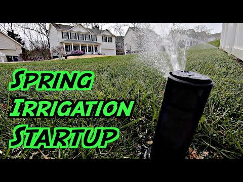 Opening My Irrigation System for the Year Spring Irrigation Startup