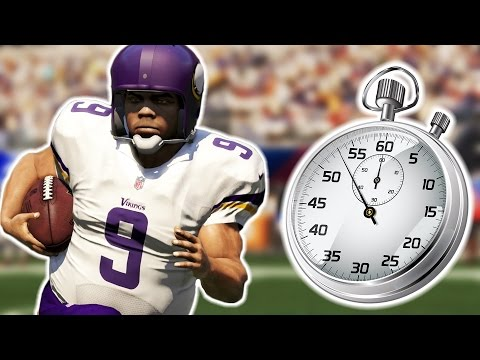 CAN ONE PLAY LAST AN ENTIRE QUARTER Madden 16 NFL Challenge