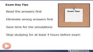 Cisco CCNA: Exam day tips