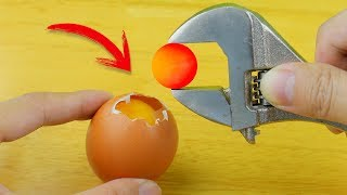 EXPERIMENT : Glowing 1000 Degree METAL BALL vs EGGS
