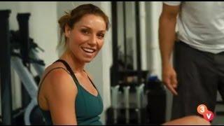 Lauren on the CrossFit Rowing Machine