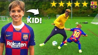 10 YEAR OLD KID MESSI CALLED ME OUT.. I LOST THIS FOOTBALL COMPETITION