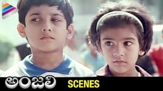 Tarun Funny Scene with Kids | Anjali Telugu Movie Comedy Scenes | Revathi | Telugu Filmnagar