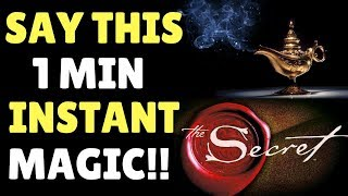 Law of Attraction Affirmation To Manifest What You Want & Align With The Universe FAST! (The Secret)