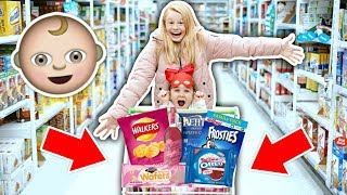 KiDS GROCERY SHOPPiNG CHALLENGE! 🛒**gender reveal edition**