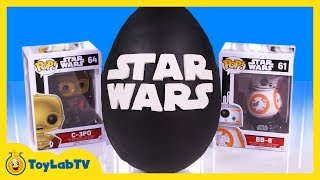 GIANT PLAY DOH EGG SURPRISE OPENING! Star Wars Surprise Egg & Toys Kids Video