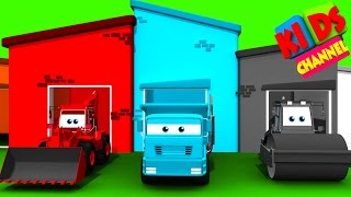 Color House Vehicles | 3D street vehicles for kids | teach transport to children | cartoon car video