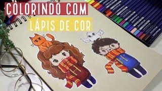 DESENHA E FALA | Harry Potter e Hermione com lápis de cor!